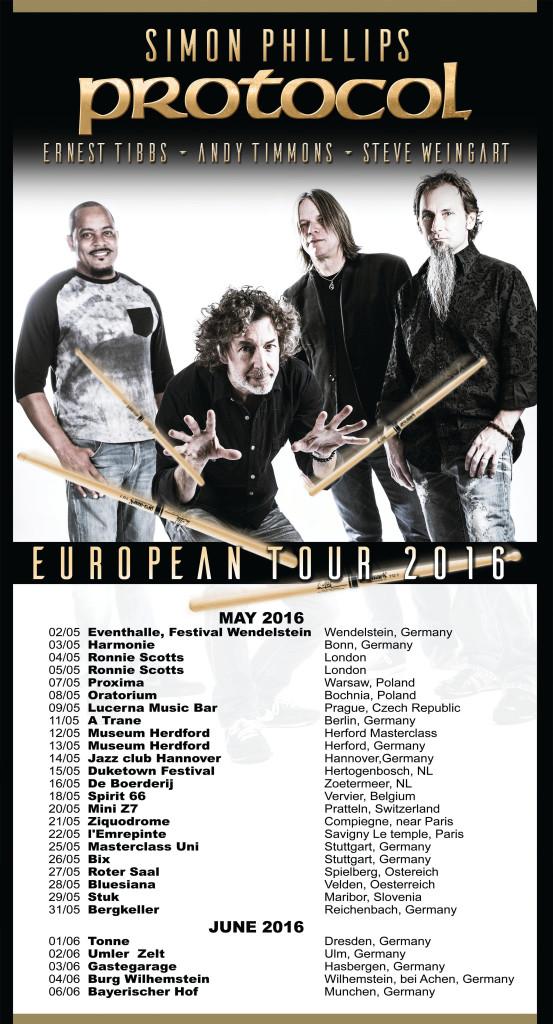 Simon Philips & Protocol-tour dates
